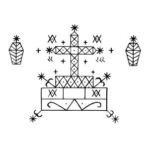 Baron Samedi Veve - Vudu simbol