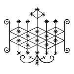 Ogoun Vudu Veve Simbol