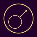 alhemijski simbol za gvožđe