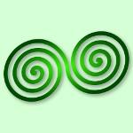 keltski simbol dvostruke spirale