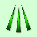 keltski aven - simbol tri zraka