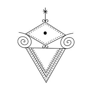 La Sirene Veve Vudu Simbol
