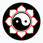 jin jang obavijen lotosovim cvetom
